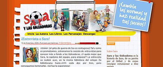 Web oficial de Sara y las Goleadoras